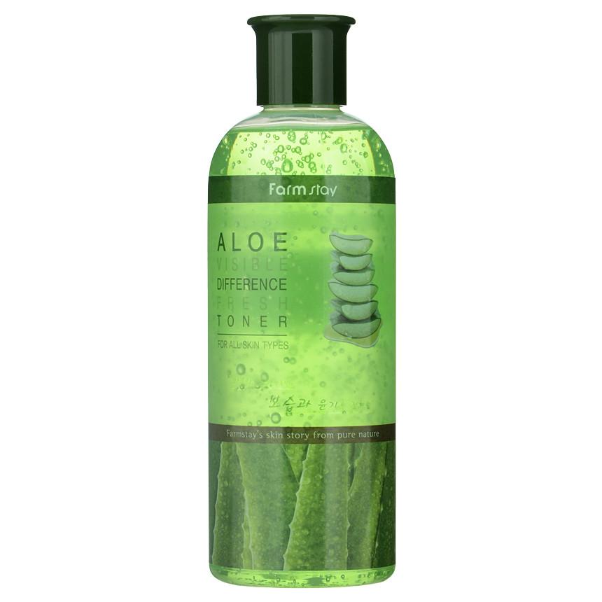 Тонер освежающий для лица алоэ  Farm Stay Visible Difference Toner Aloe  350 ml.
