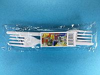 Вилка одноразовая белая 10 шт/уп Sherdin, фото 1