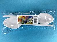 Ложка столовая одноразовая белая 10 шт/уп Sherdin, фото 1