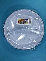 Тарелка одноразовая белая С-2 210 мм 5 шт/уп Sherdin, фото 1