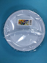 Тарелка одноразовая белая С-2 210 мм 5 шт/уп Sherdin