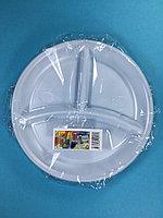 Тарелка одноразовая белая С-3 210 мм 5 шт/уп Sherdin, фото 1