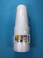 Стакан одноразовый белый для горячих напитков 200 мл 20 шт/уп Sherdin, фото 1