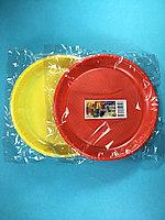 Тарелка одноразовая цветная 167 мм 5 шт/уп Sherdin, фото 1