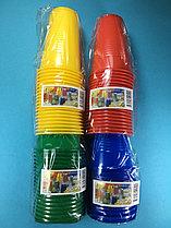 Стакан одноразовый цветной 200 мл. 10 шт/уп Sherdin