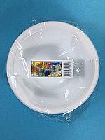 Тарелка одноразовая белая 500 мл (суповая) 10 шт/уп Sherdin, фото 1