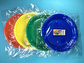 Тарелка одноразовая цветная 210 мм 5 шт/уп Sherdin