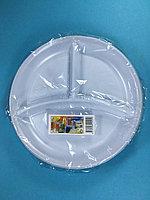 Тарелка одноразовая белая С-3 210 мм 10 шт/уп Sherdin, фото 1