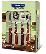 Набор столовых приборов 4 предмета 16 шт 21199/738 Polywood Tramontina