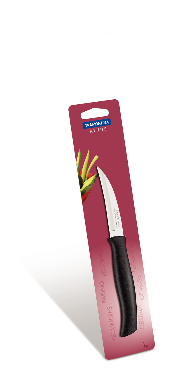 """Нож для овощей (в блистере) 3"""" 76 мм. Athus Tramontina"""