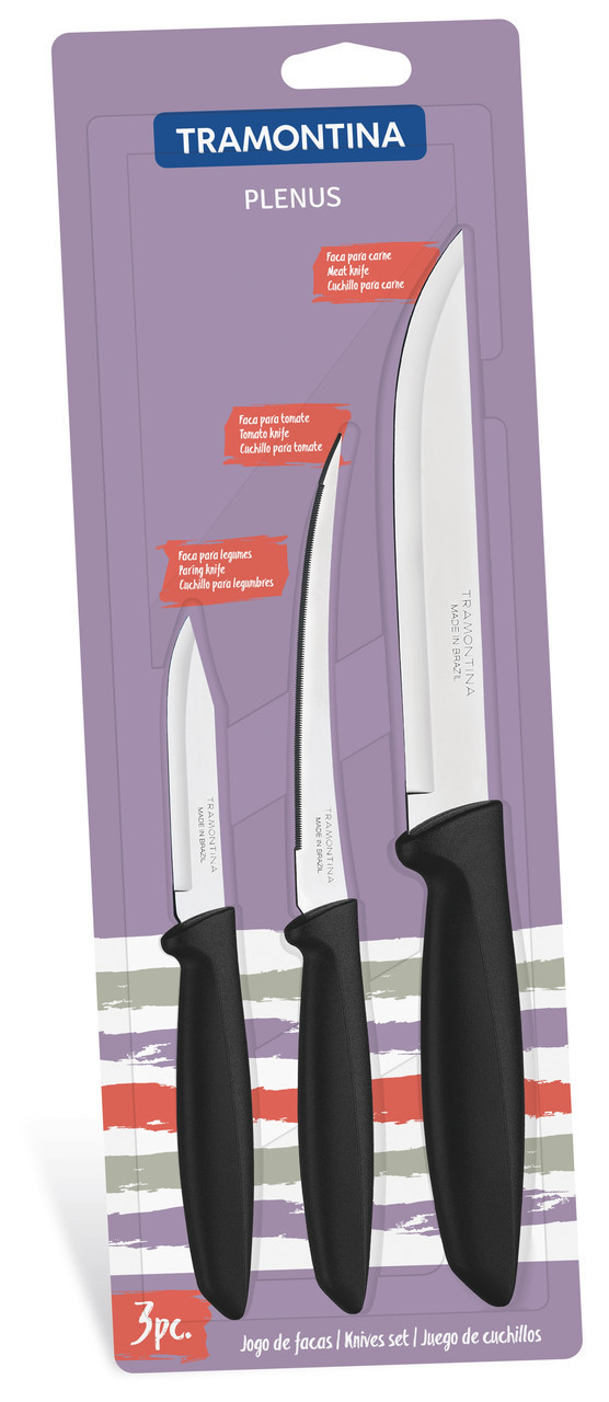 Набор ножей 3 предмета  Plenus Tramontina