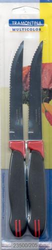 """Нож столовый для стейка 5"""" 127 мм 2шт/уп  Multicolor Tramontina"""