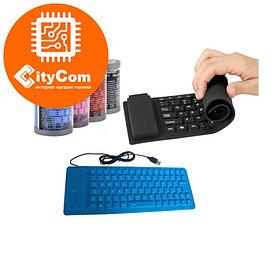 Гибкая силиконовая USB-клавиатура, сокращенная раскладка