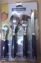 Набор столовых приборов 4 предмета 12шт 23599/115 Multicolor Tramontina