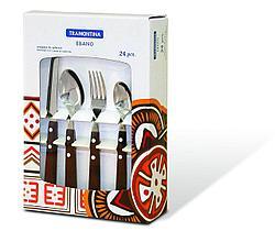 Набор столовых приборов 4 предмета 24 шт 23599/471 Ebano Tramontina