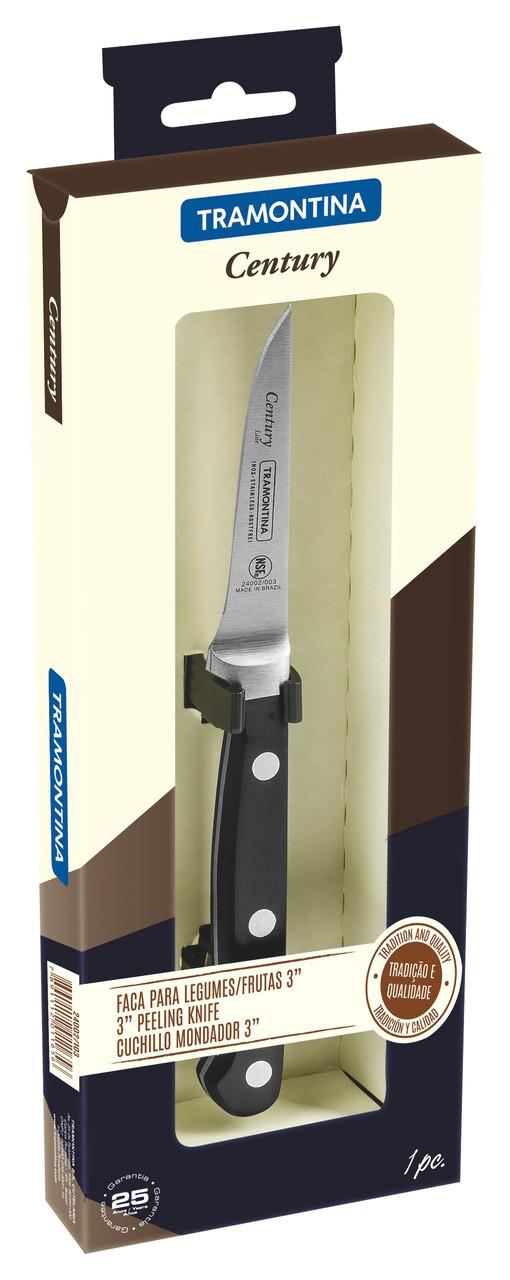 """Нож для овощей (в коробке) 3"""" 76 мм. Century Tramontina"""