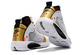 """Баскетбольные кроссовки Air Jordan 34 (XXXIV) """"White\Gold"""" (40-46), фото 2"""