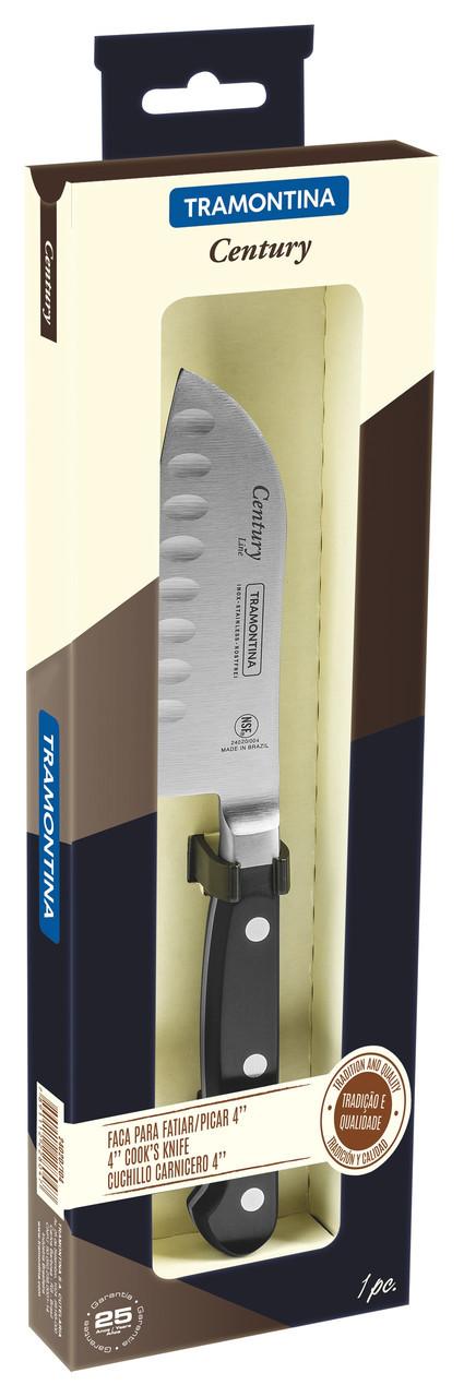 "Нож кухонный SANTOKU (в коробке) 4"" 102 мм.  Century Tramontina"