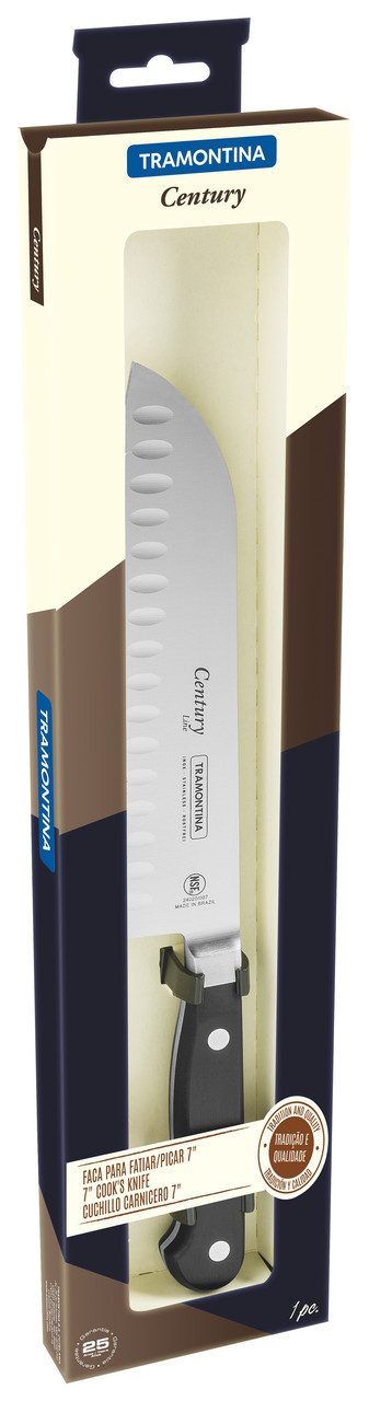 "Нож кухонный SANTOKU (в коробке) 7"" 178 мм 24020/107 Century Tramontina"