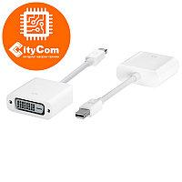 Переходник (адаптер) с разъема Mini DisplayPort на DVI, Mini Dp - DVI, для ноутбуков.. Конвертер. Арт.1059