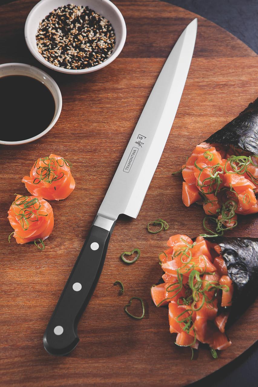 """Нож YANAGIBA для приготовления суши (в коробке) 9"""" 229 мм Sushi Gold Tramontina"""