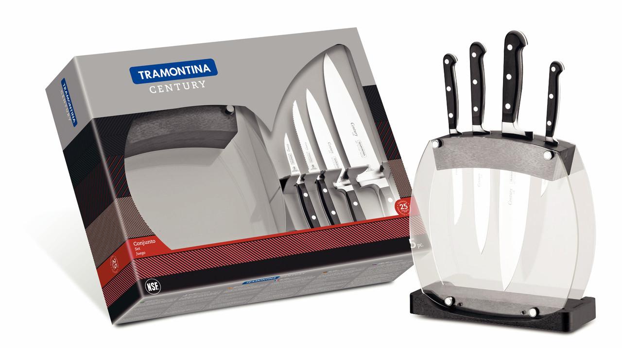 Набор ножей на подставке 5 предметов Century Tramontina