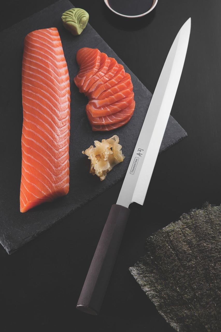 """Нож YANAGIBA для приготовления суши (в коробке) 13"""" 330 мм 24230/043 Sushi Silver Tramontina"""