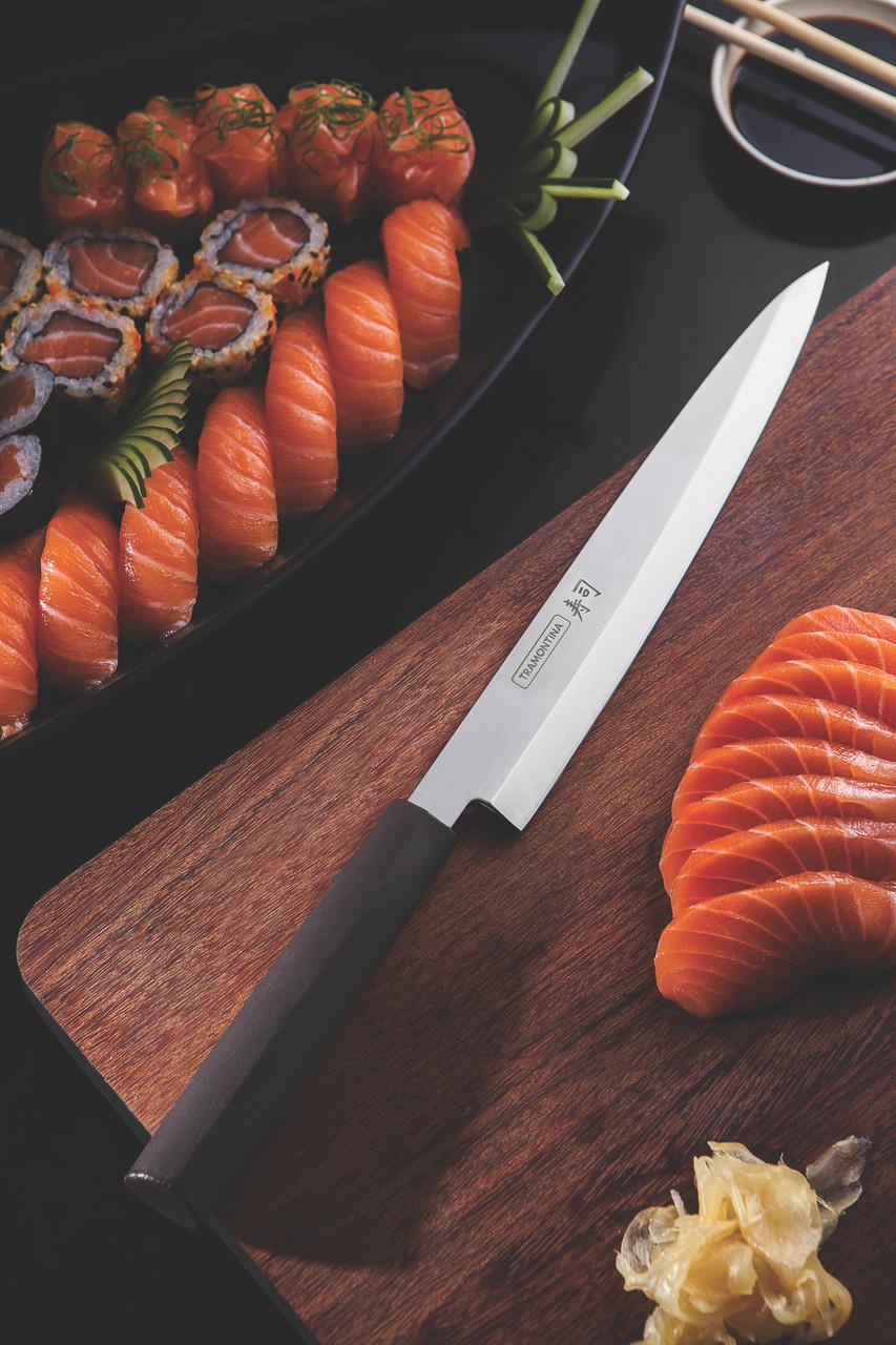 """Нож YANAGIBA для приготовления суши (в коробке) 9"""" 229 мм  Sushi Silver Tramontina"""