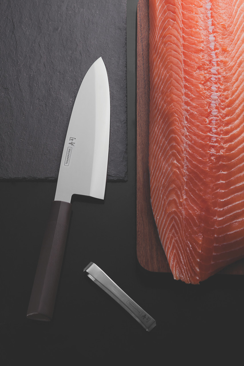 """Нож DEBA для разделки рыбы (в коробке) 8"""" 203 мм  Sushi Silver Tramontina"""