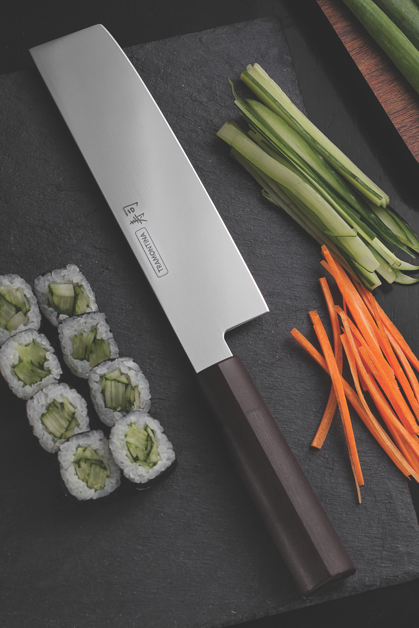 """Нож NAKIRI для нарезки овощей (в коробке) 7"""" 178 мм Sushi Silver Tramontina"""