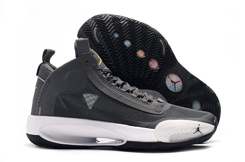"""Баскетбольные кроссовки Air Jordan 34 (XXXIV) """"Gray"""" (40-46)"""