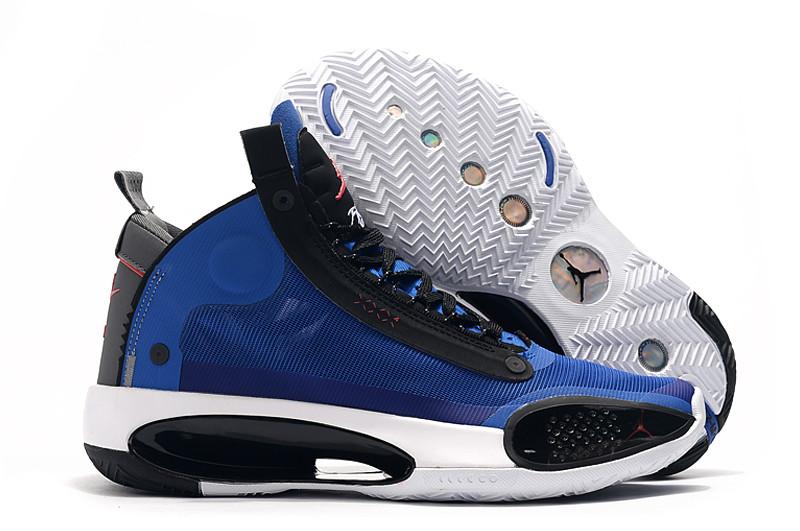 """Баскетбольные кроссовки Air Jordan 34 (XXXIV) """"Blue"""" (40-46)"""
