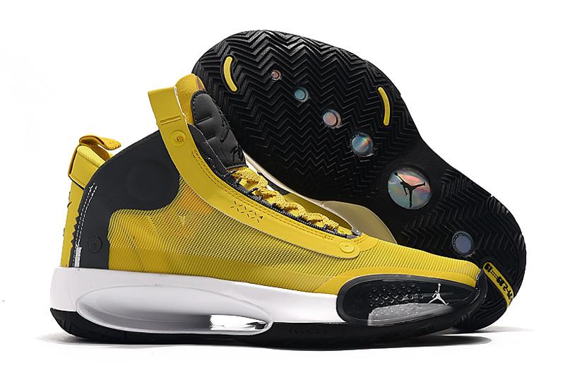 """Баскетбольные кроссовки Air Jordan 34 (XXXIV) """"Yellow"""" (40-46)"""