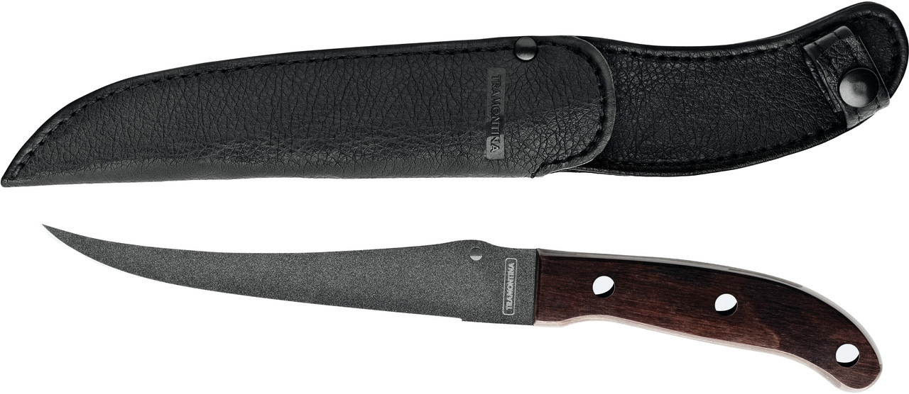 Нож туристический нескладной рыбацкий филейный 26057/197 Fish Tramontina