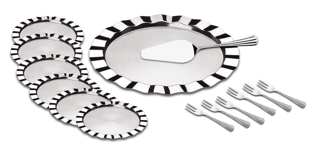 Набор для торта стальной 14 предметов 64160/020 Dunas Tramontina