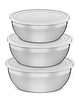 Набор емкости кухонные с крышкой стальные 3 предмета 64220/010 Freezinox Tramontina, фото 1