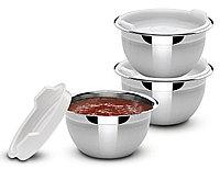 Набор емкости кухонные с крышкой стальные 3 предмета 9см 200мл Cucina Tramontina, фото 1