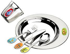 Набор детской посуды стальной 5 предметов 64250/840 Zoo Tramontina