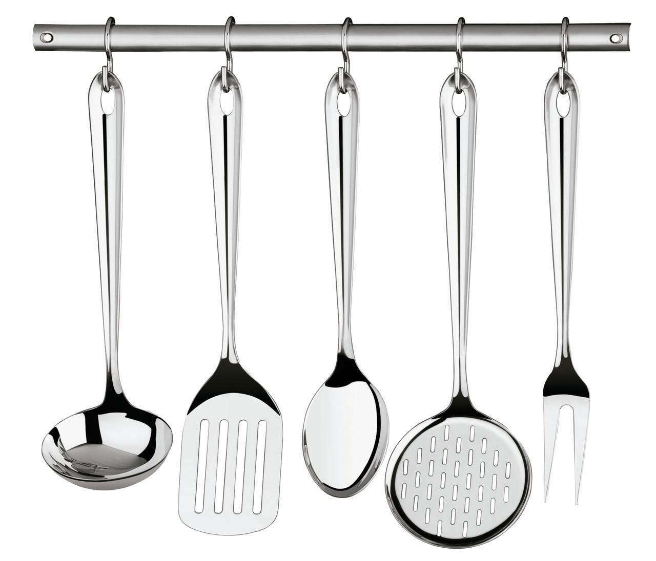 Набор кухонных приборов (шумовка, половник и т.д.) стальной 6 предметов 66812/700 Utility Tramontina