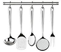 Набор кухонных приборов (шумовка, половник и т.д.) стальной 6 предметов 66812/700 Utility Tramontina, фото 1