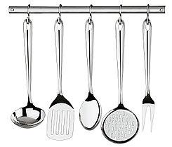 Набор кухонных приборов (шумовка, половник и т.д.) стальной 6 предметов  Utility Tramontina