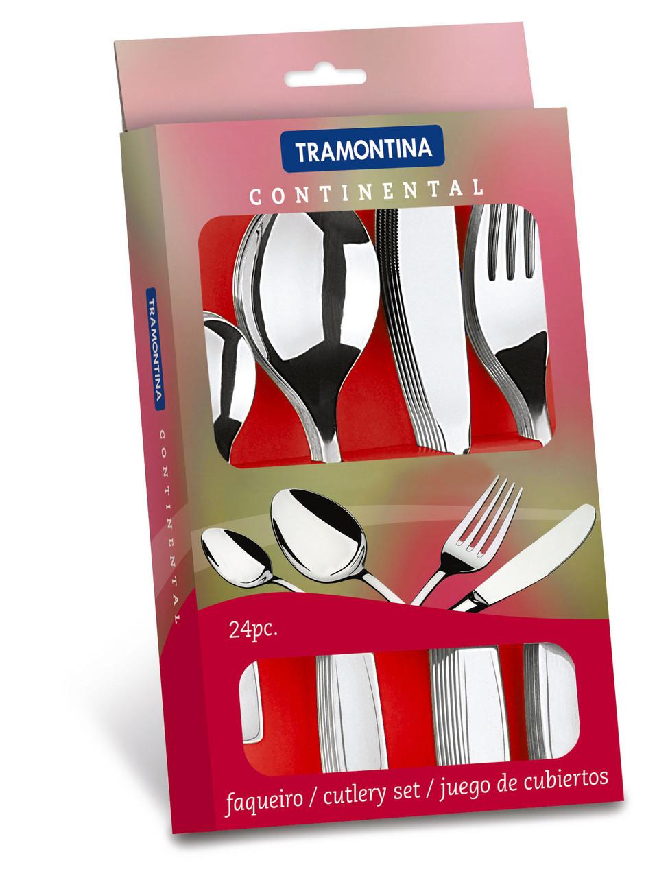Набор столовых приборов 4 предмета 24 шт 66965/620 Continental Tramontina