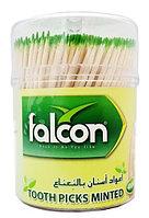 Зубочистки Falconpack с мятой с ментолом 400 шт/уп, фото 1