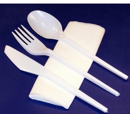 """Набор одноразовой посуды """"Приборы столовые"""" 4 в 1 (Sherdin)"""