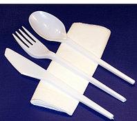 """Набор одноразовой посуды """"Приборы столовые"""" 4 в 1 (Sherdin), фото 1"""