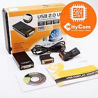 Адаптер (переходник) USB - UGA (USB - VGA/DVI/HDMI) внешняя видеокарта. Конвертер. Арт.1032