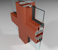 Фасадная алюминиевая система СИАЛ КП45