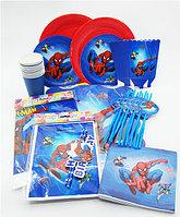 Большой набор посуды Spider-Man+ / 73 предмета для 10-ти детей