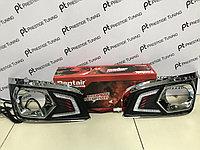 Вставки в противотуманные фары с ДХО на Fortuner 2012-15, фото 1
