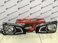 ДХО вставки в противотуманные фары на Toyota Fortuner 2012-15
